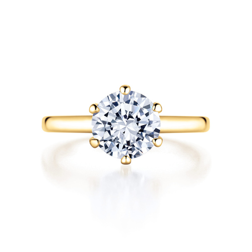 Rose in 18K yellowgold with 2,0ct diamond