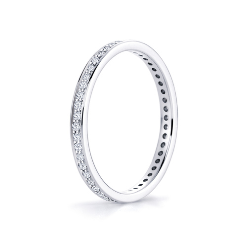 Juno in 18K whitegold with 0,36ct diamond