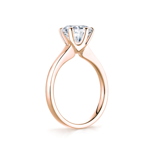 Rose in 18K Rosegold with 2,0ct diamond
